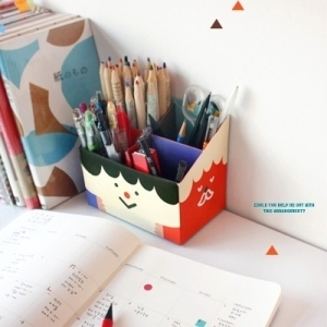 PAPER PENCIL BOX - FUNNY FACE